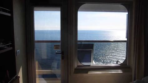 The cabin & view from the balcony Carnival Sunshine