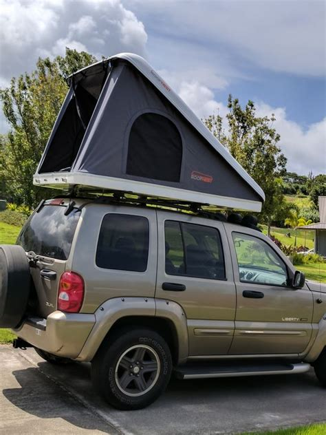 Jeep Renegade with Hard Shell Roof Top Tent for 2 - Kahului