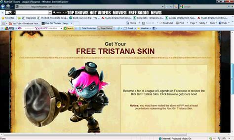 League of Legends:How to get the free Tristana skin