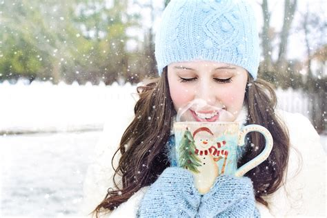Young Woman in Snow · Free Stock Photo