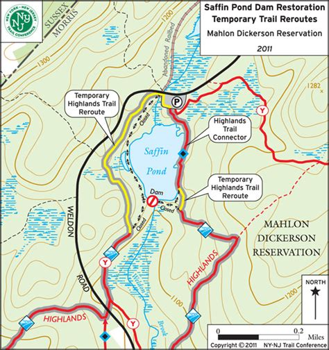 Highlands Trail Temporary Reroute in Mahlon Dickerson
