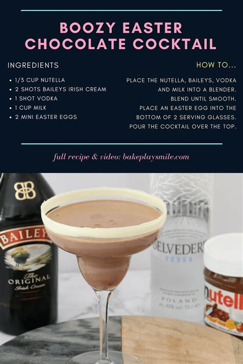 This Boozy Easter Chocolate Cocktail really is the