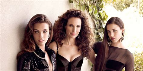 Andie Macdowell Interview - Daughters Rainey and Margaret