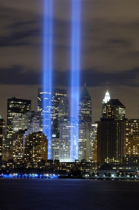 """Stock Photo of The """"Tribute in Light"""" Memorial at Ground"""