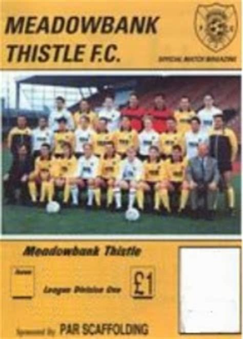 Pie and Mushy Peas: Meadowbank Thistle FC