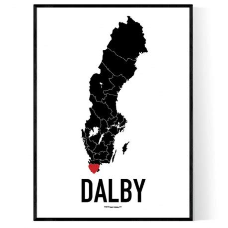 Dalby Heart Poster
