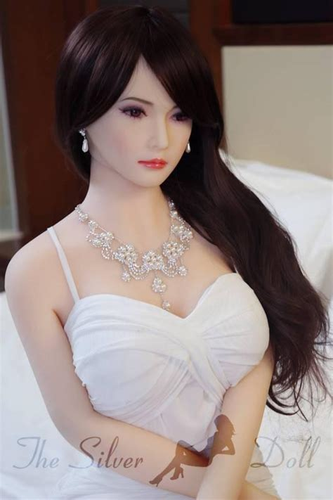 AF Doll 165cm E-Cup Adelina in white dress - The Silver Doll