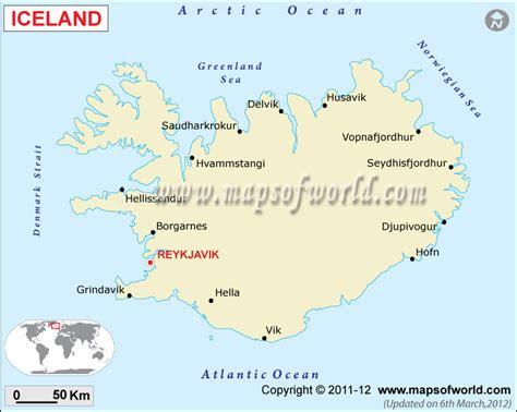 Iceland Mineral Map | Natural Resources of Iceland
