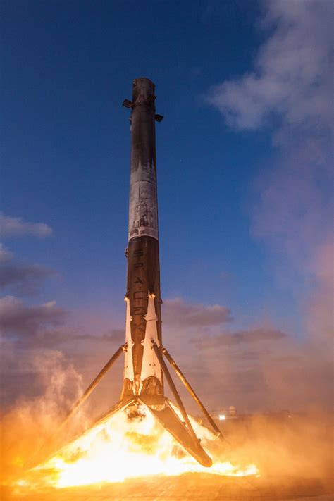 Photos: SpaceX booster lands for second time on drone ship