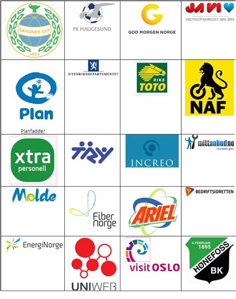 Norsk Logo Quiz Answers: juni 2013