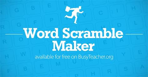 Create your own word scramble puzzles with our free word