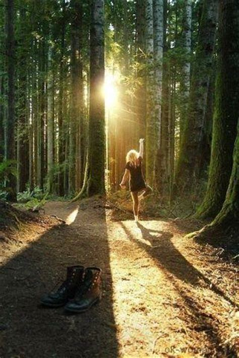 Young woman in the forest, Woman in the Woods