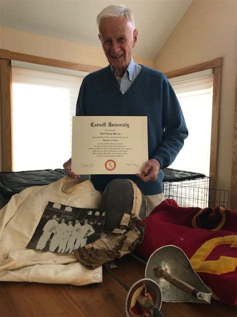 Doctor receives Cornell degree, 67 years after leaving