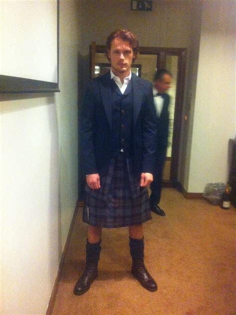Pictures of Sam Heughan at Scotland's BAFTA Awards