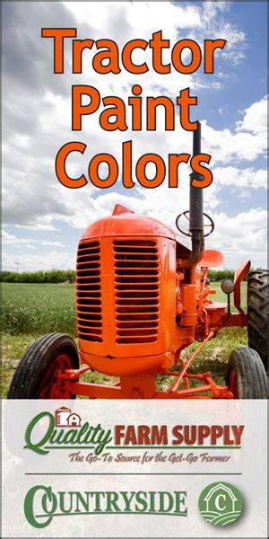 Tractor Paint Colors — Breaking the Codes - Countryside