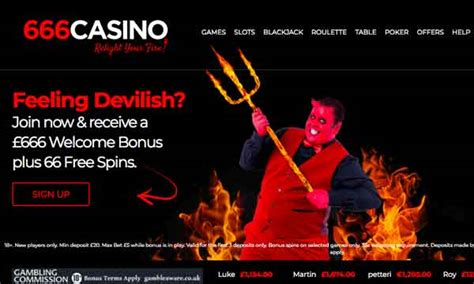 666 Casino: 66 Free Spins and £666 Welcome Bonus | Free
