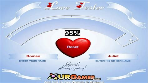 Love Tester Game -- Test Your Love Meter - YouTube