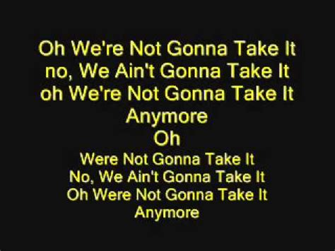 Twisted Sister - We're Not Gonna Take It (with lyrics