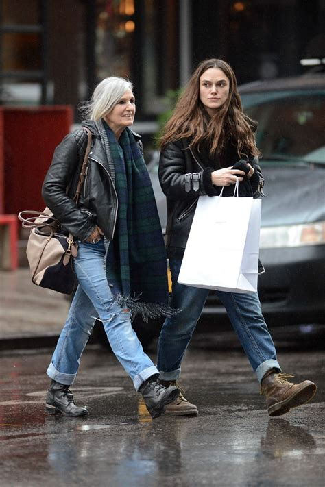 Keira Knightley and Her Mother - Leaving Dimes Restaurant
