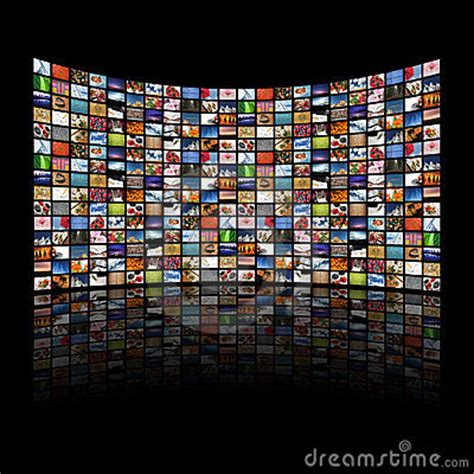 Multi Media Screens Displaying Images/information Royalty