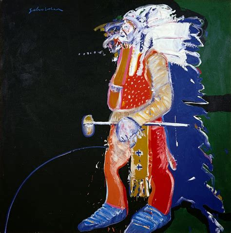 """Treasures: """"Indian with Tomahawk"""" by Fritz Scholder"""