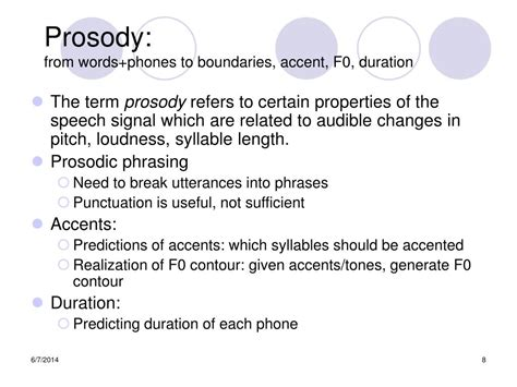PPT - Speech Processing Text to Speech Synthesis