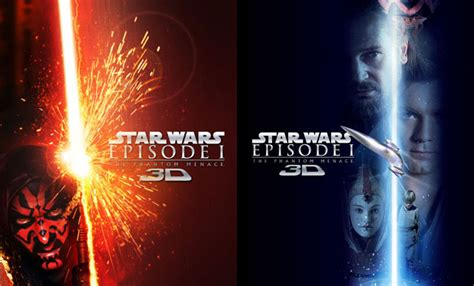 """New """"Star Wars: The Phantom Menace 3D"""" posters put the"""