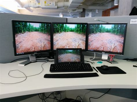 My new work Battlestation running off of the Surface Pro 2