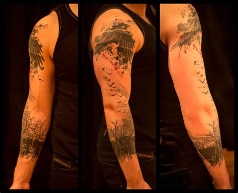 Crow and Forest Arm by Jacob Pedersen @ Crooked Moon