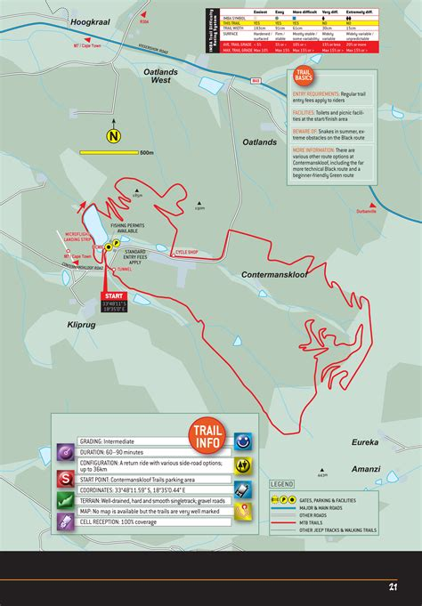 Namaqua National Park NORTHERN CAPE MTB ROUTE MAP – Shop2day