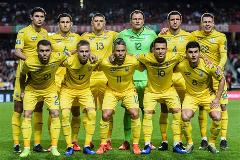 Ukraine's national football team dropped two positions in