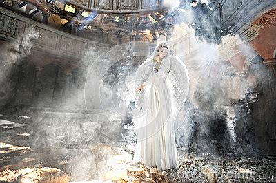 Beautiful Angel Woman In Theatre Royalty Free Stock Image