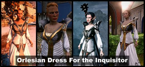 Orlesian Dress For the Inquisitor Dwarf Elf Qunari and